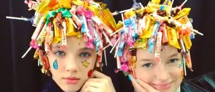 #FRIDAYFUNNY: The biggest hairdresser in Japan…does interesting things with hair extensions, color and candy!…