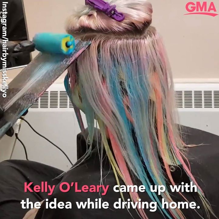 TRENDING: #PAINTROLLERHAIR ?! Canadian hairstylist Kelly O'Leary went viral this week after a color…